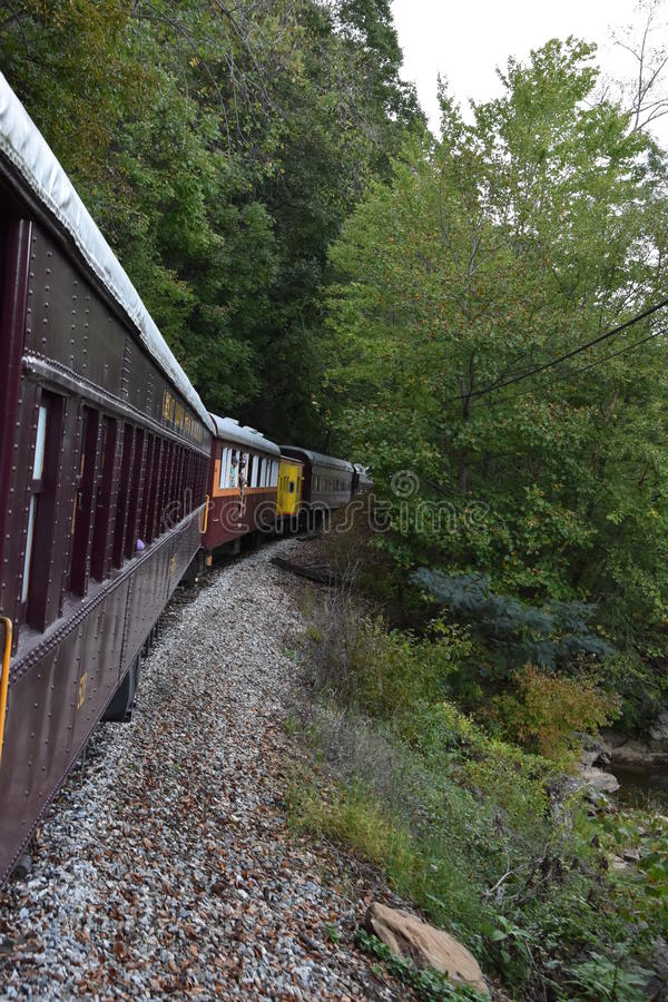 Great Smoky Mountains Railroad in Bryson City, North Carolina. USA royalty free stock images