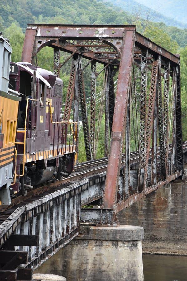 Great Smoky Mountains Railroad in Bryson City, North Carolina. USA royalty free stock photos
