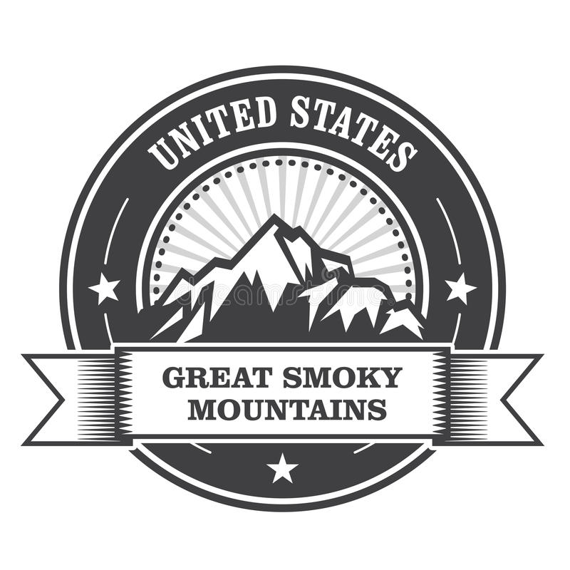 Free Great Smoky Mountains Stamp Stock Photography - 70344172