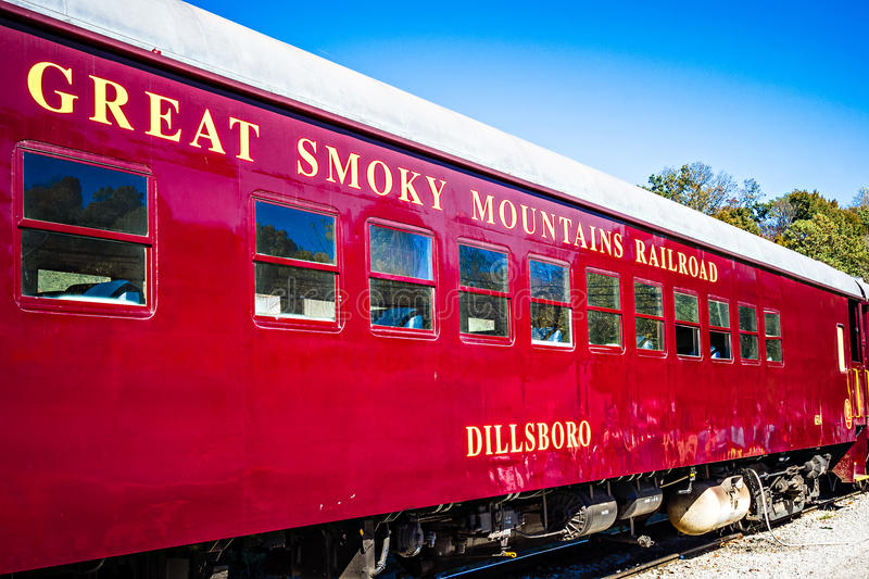 Great smoky mountains train ride in bryson city nc royalty free stock photography