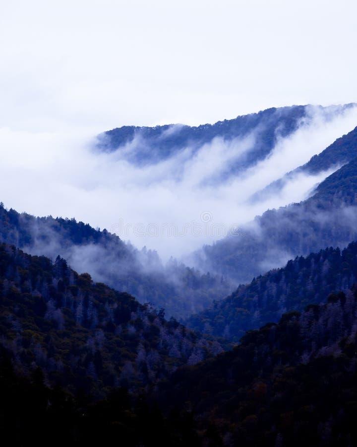 Great smoky mountains at twilight royalty free stock photos