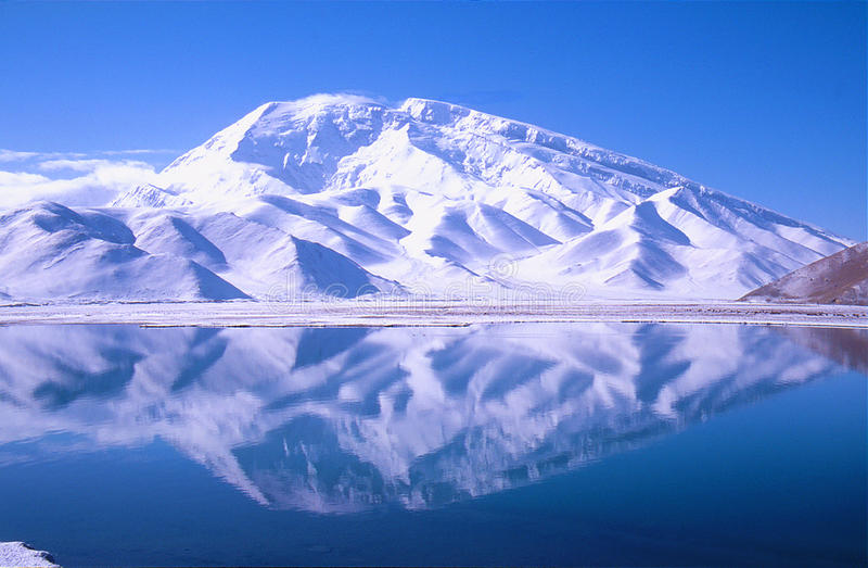 great snow-capped mountain royalty free stock photo