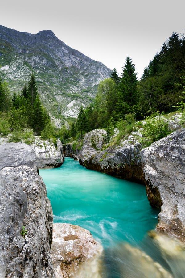 Great Soca Gorge, Slovenia stock photography