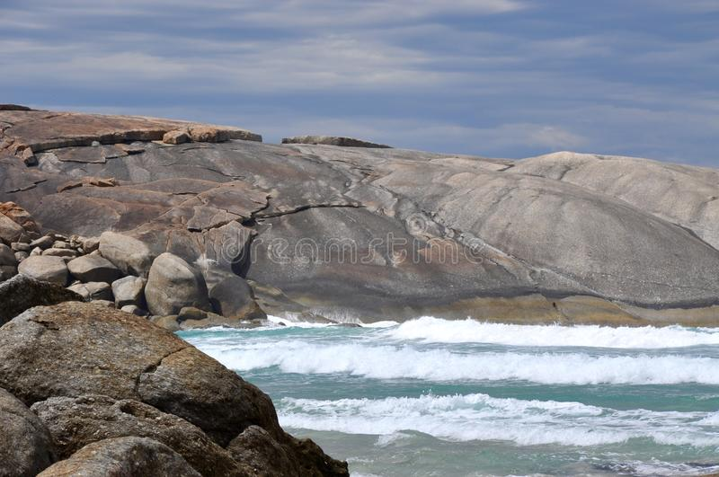 Great Southern Ocean: Granite Detail royalty free stock photography