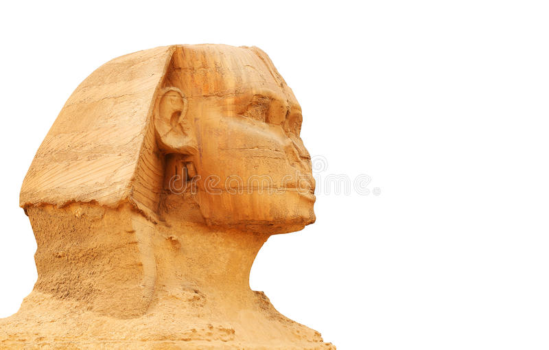 Great Sphinx of Giza and Pyramid. Egypt royalty free stock photos
