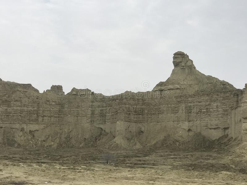 Great Sphinx Hingol National Park Near Kund Malir Beach, Balochistan stock photography