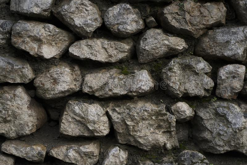 Great stone wall good for texture backgrounds. Wallpapers. Old city stones stock image