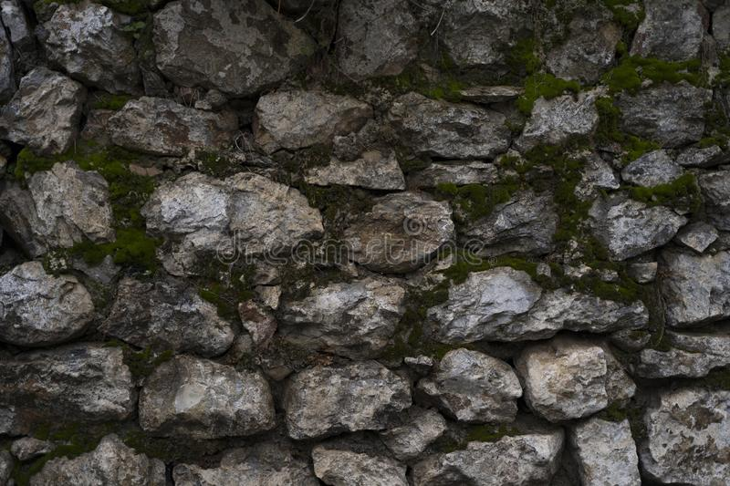 Great stone wall good for texture backgrounds royalty free stock photography