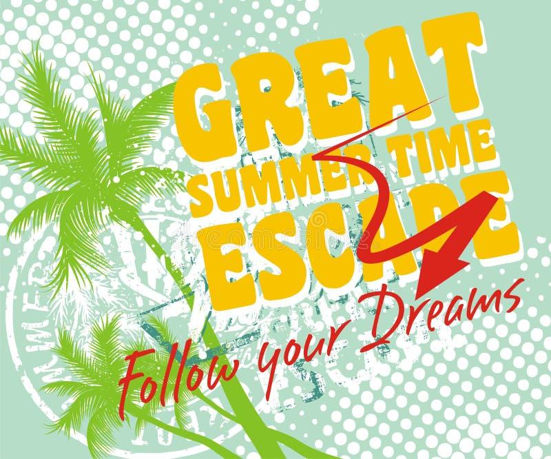 Great summer vector illustration