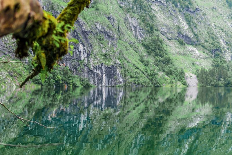Great summer panorama of the Obersee lake. Green morning scene of Swiss Alps, Nafels village location, Switzerland, Europe. Beauty royalty free stock photos