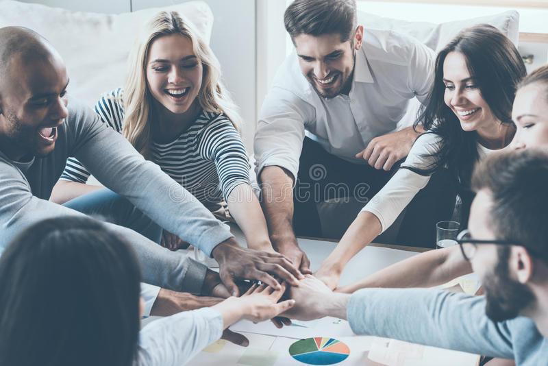We are the great team! royalty free stock images