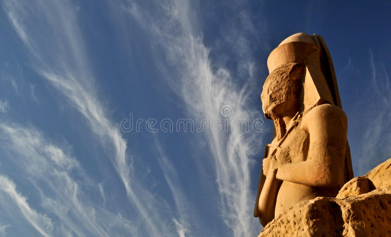 The Great Temple of Amun. The Statue of Ramesses, in the Great Temple of Amun, Karnak, Luxor, Egypt royalty free stock image