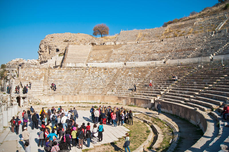 Download Great theatre in Ephesus editorial image. Image of emperor - 22531015