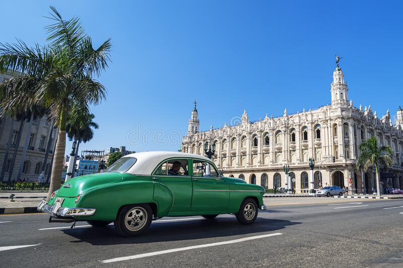 Great Theatre of Havana, in Havana, Cuba.The theatre has been home to the Cuban National Ballet. The Great Theatre of Havana, in Havana, Cuba.The theatre has royalty free stock image