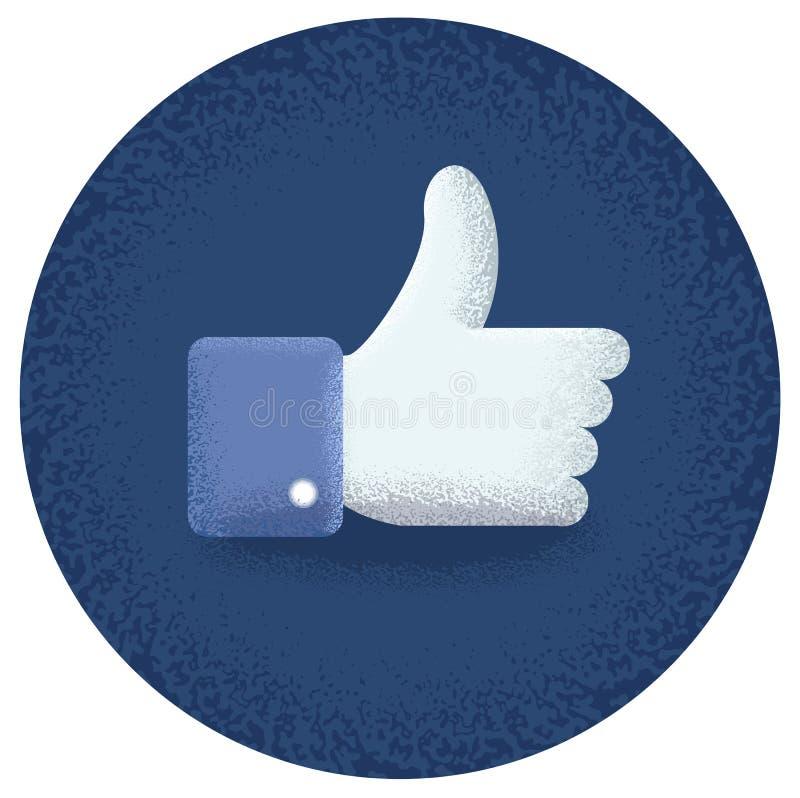 Great thumb upward stock illustration