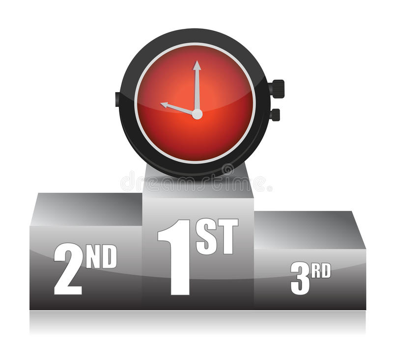 Great timing concept illustration stock illustration