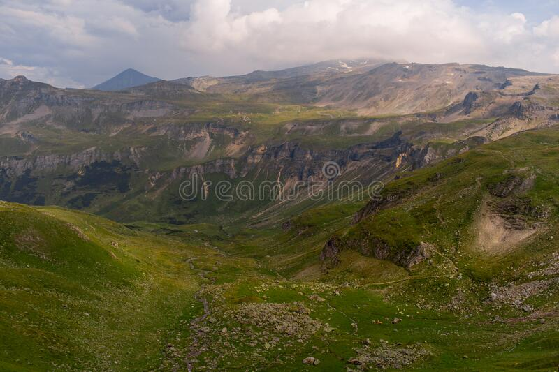 Great view of the alpine green mountains. royalty free stock photos