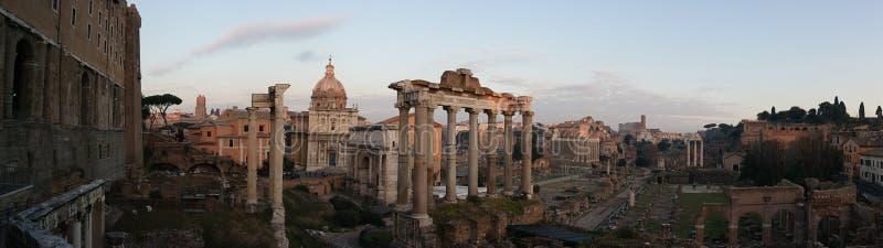 Forum Romanum at sunset royalty free stock photography