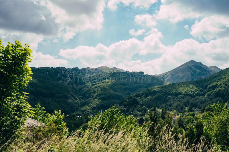 Great view of the mountain Jablanica stock photo