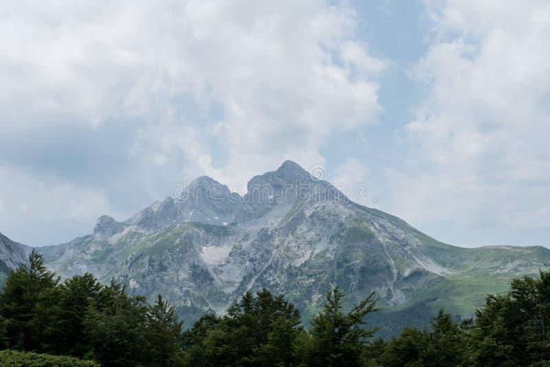 Great view of Mountain Komovi in Montenegro. royalty free stock image