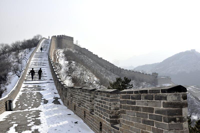 Great Wall. Badaling Beijing in Wintertime stock images