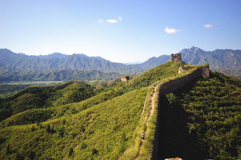 Download Great wall stock photo. Image of hike, green, built, backpacking - 18238740