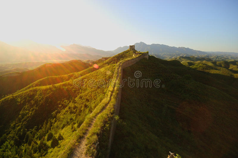 Download Great wall stock image. Image of asian, blue, backpacking - 18238783