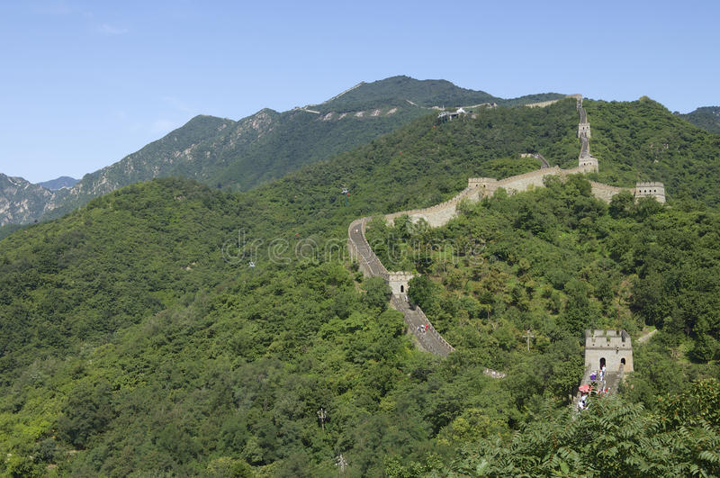 Download Great Wall stock image. Image of hill, blue, chinese - 25843141