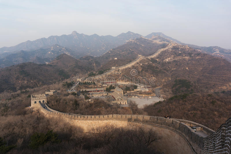 Great Wall-Badaling. Section in Autum royalty free stock photos