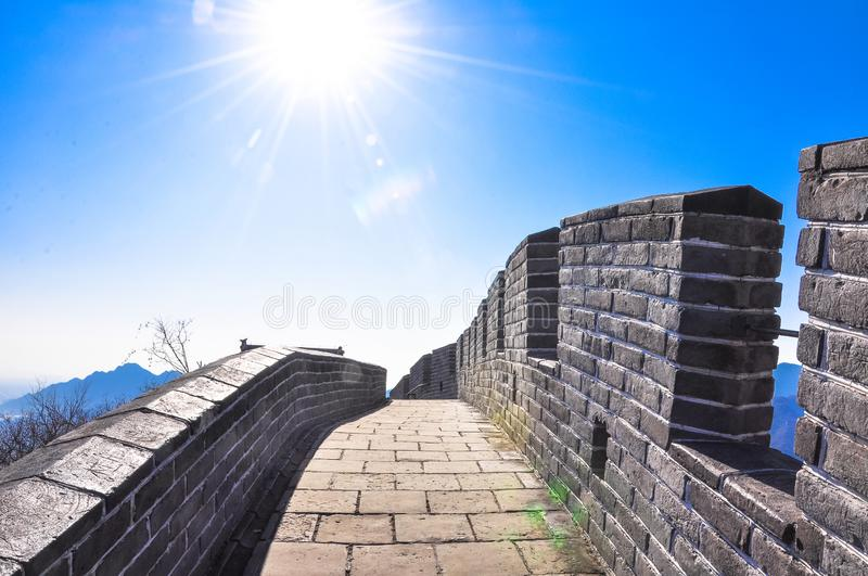 The Great Wall in sunshine royalty free stock photos