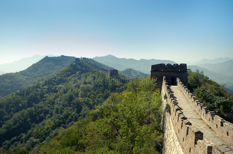 The Great Wall of China. Mutianyu section royalty free stock image