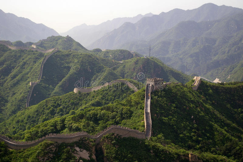 The Great Wall in China royalty free stock photo
