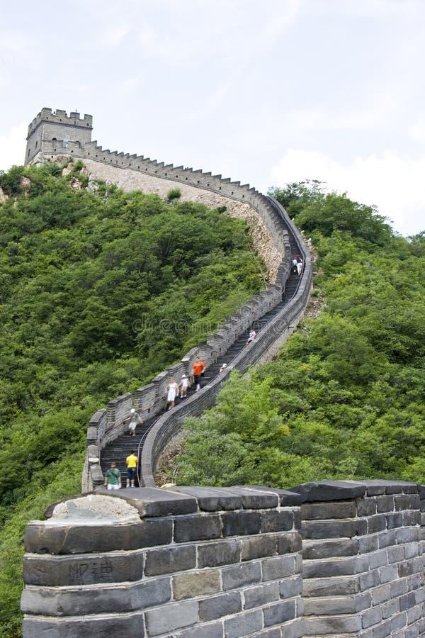 The Great Wall of China. China Great Wall in Mutianyu stock photo