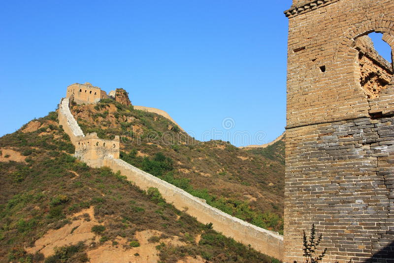 Download Great wall of China stock photo. Image of sunny, building - 21308062