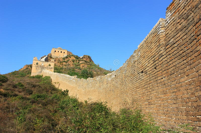 Download Great wall of China stock image. Image of hill, greatwall - 21308087