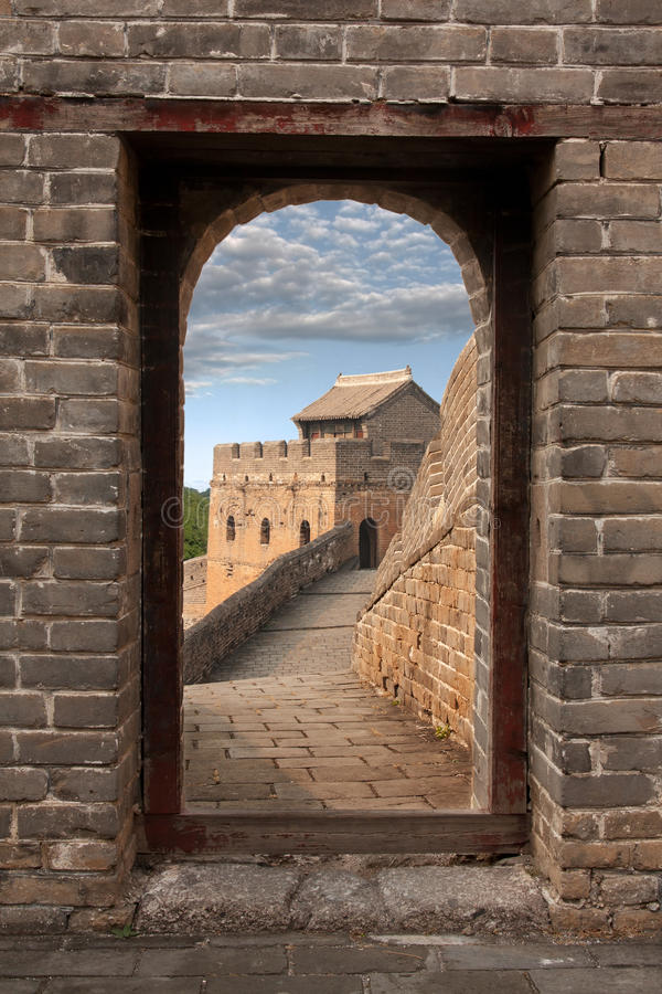 Download Great Wall in China stock photo. Image of light, history - 22345046