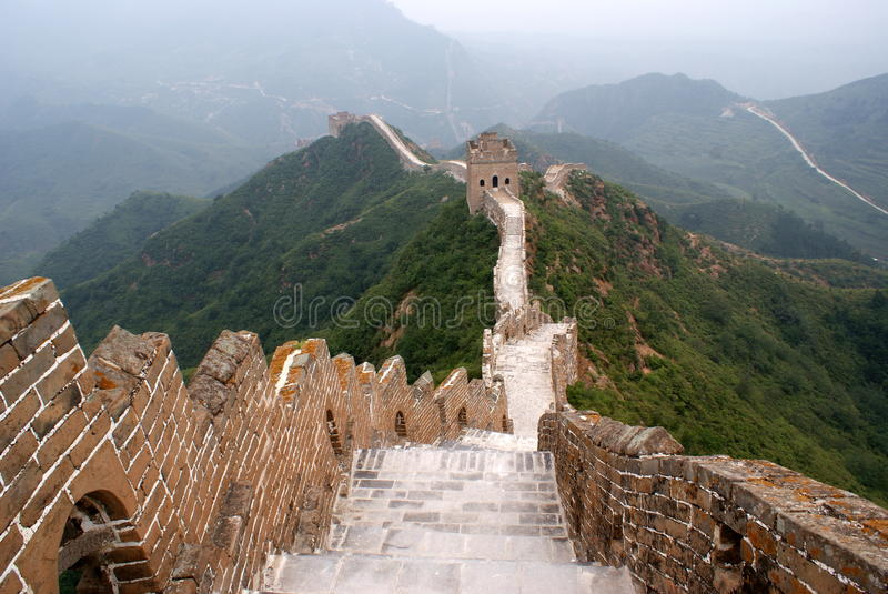 Download The great wall, China stock image. Image of hills, oriental - 22589903
