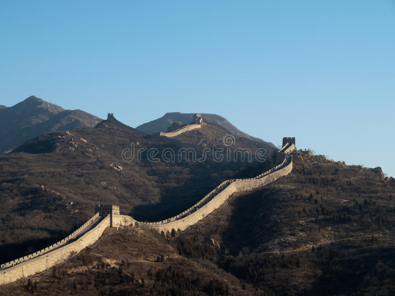Download The great wall of China stock image. Image of ancient - 23775933