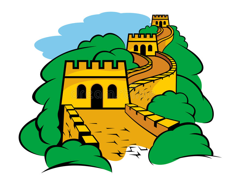 Great Wall in China stock vector. Illustration of boundary - 26123000