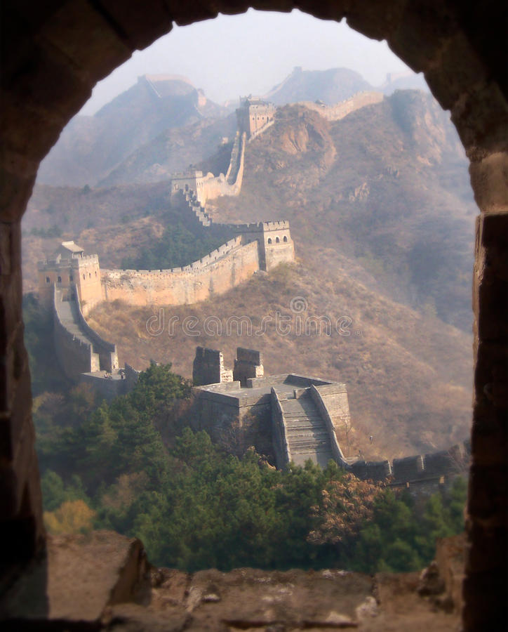 Download Great Wall of China stock image. Image of landscape, window - 27537457