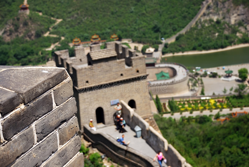 Great Wall in China stock photos