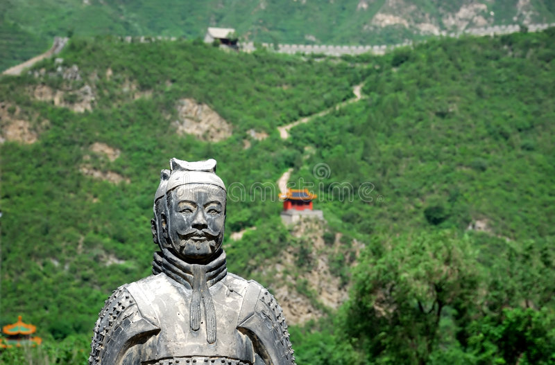 Great Wall in China stock image