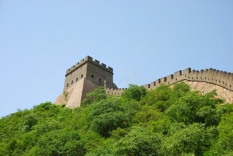 Great Wall in China stock images