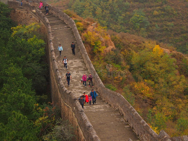 Great Wall of China in Autumn royalty free stock images