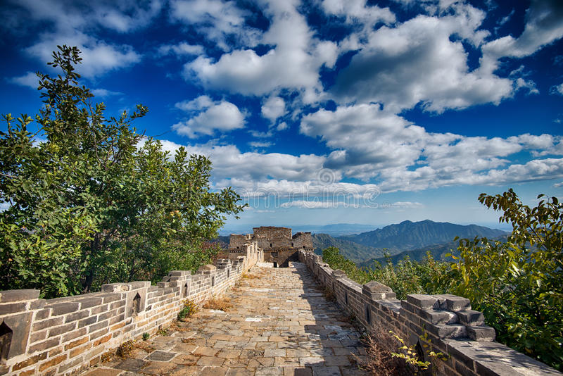 The Great Wall of China, Beijing royalty free stock photography