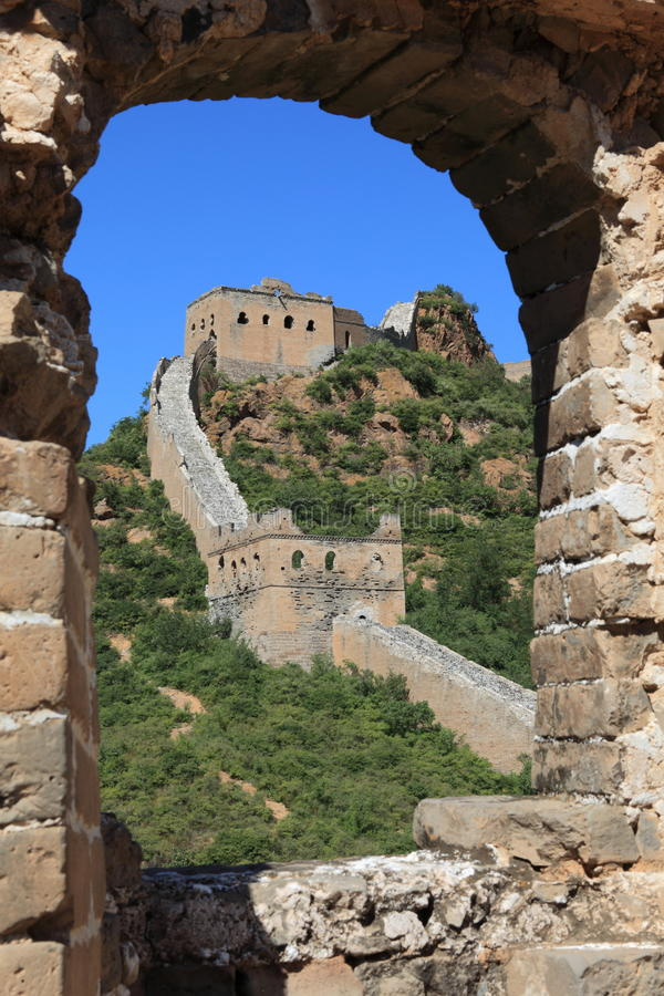 The Great Wall of China. Close to Jinshanling royalty free stock image
