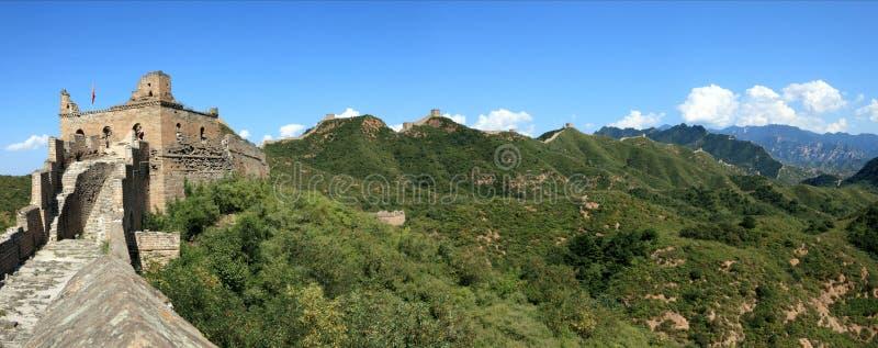 The Great Wall of China. Close to Jinshanling royalty free stock photo