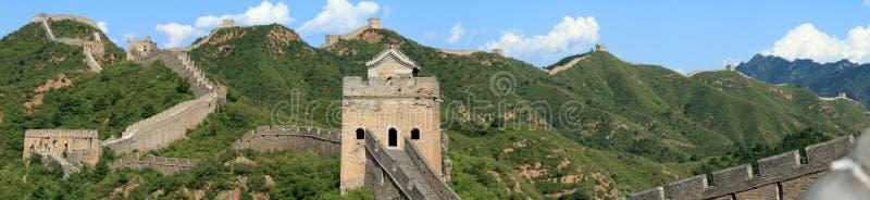 The Great Wall of China. Close to Jinshanling stock photos