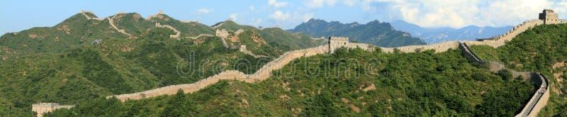 The Great Wall of China. Close to Jinshanling stock image