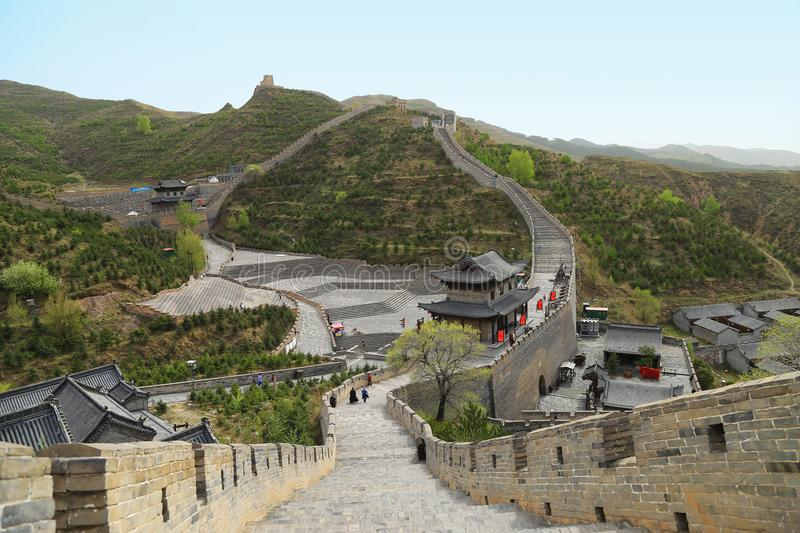 Great Wall of China. Datong, Shanxi Province. Yanmenguan, Great Wall of China. Datong, Shanxi Province stock images